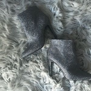 Jessica Simpson Silver Sequins Booties